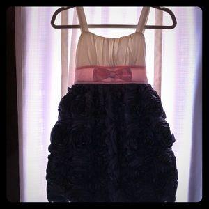 Ruby Rox Cream & Navy dress